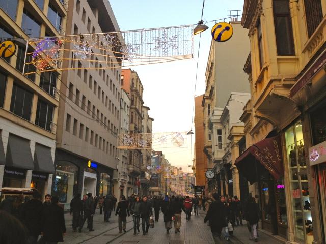 Walking around the area -- pedestrian street