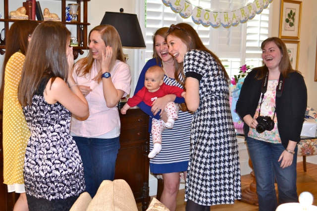 My amazing friends assuring me that it was in fact a surprise shower for Baby H!