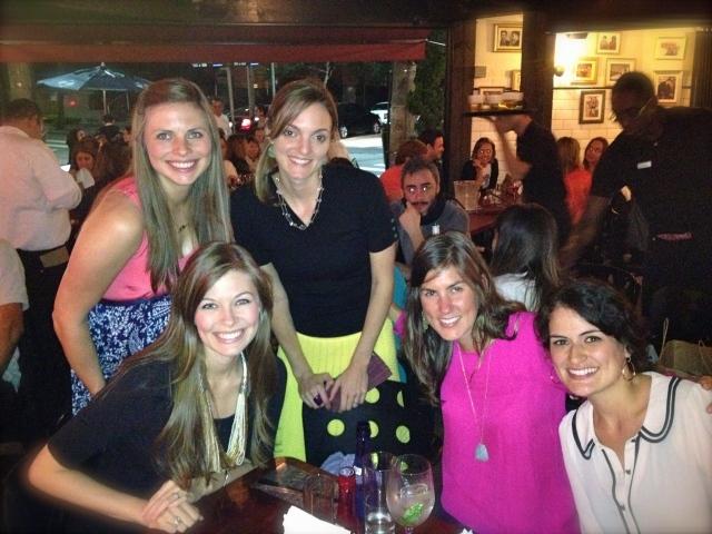 Paige, Suzanna, me, Jana & Paula at La Maison Est Tombee.  Also a creepy guy in the background.