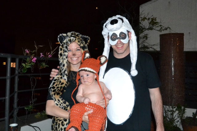 We went as a leopard, panda and a FOX!