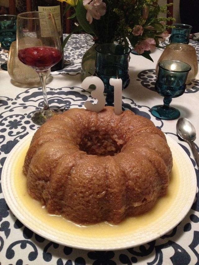 I made the birthday cake!