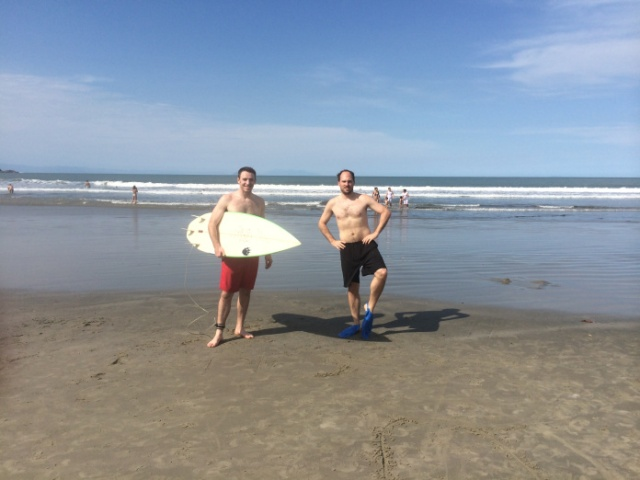 Michael and Trent, ready to take on the waves