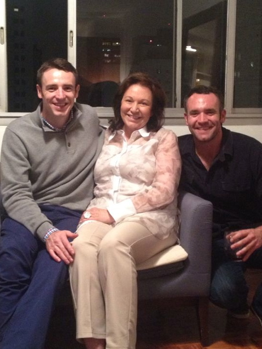 Sharon with her boys.