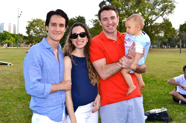 Fernando & Bruna with Michael & Colt.