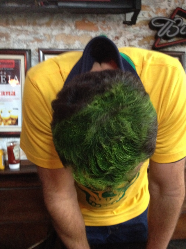We even convinced Joe to paint his hair green!