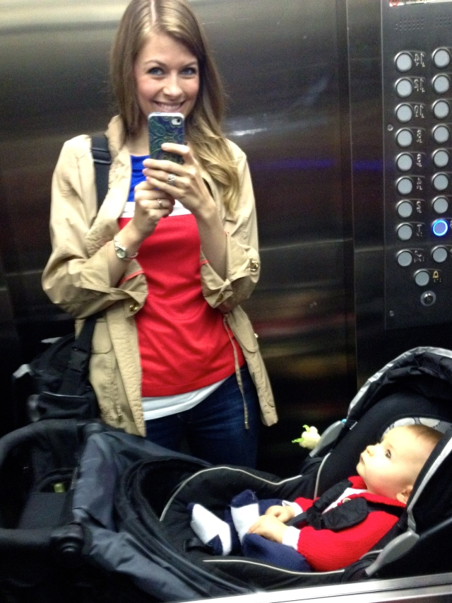 Colt & I on our way out!
