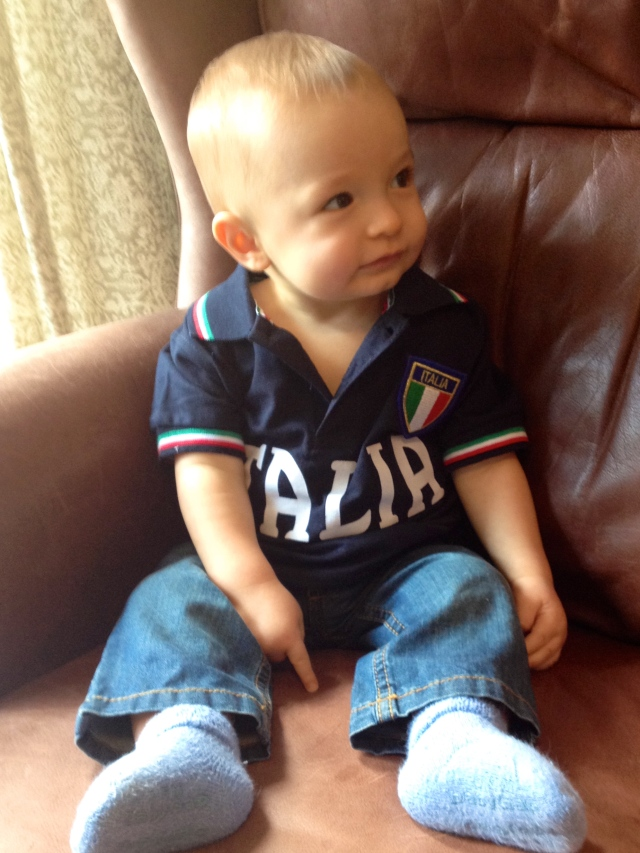 The cutest Italy fan!