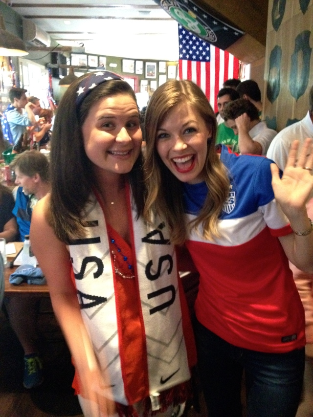 Crazy bumping into Hillary - a friend from McCain 08 in town for the World Cup!