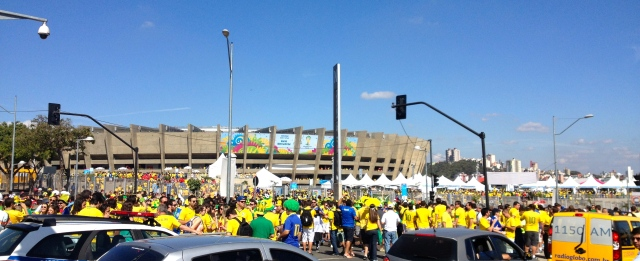 Getting to the stadium.