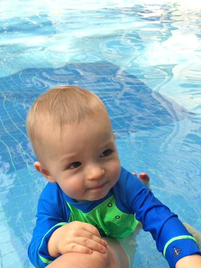 Gigi turned Colt into a total water-bug. He LOVES the pool.