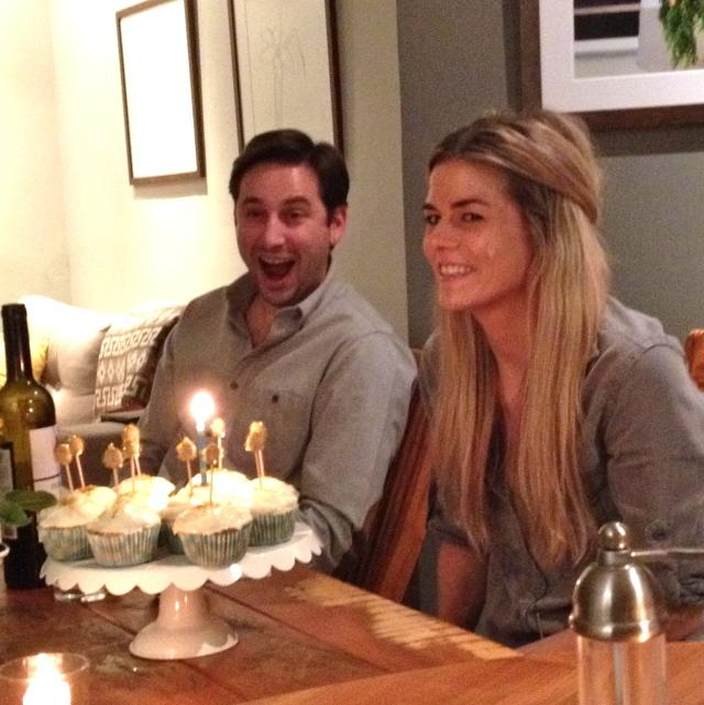 Aug: Colbys birthday dinner at the Joneses.