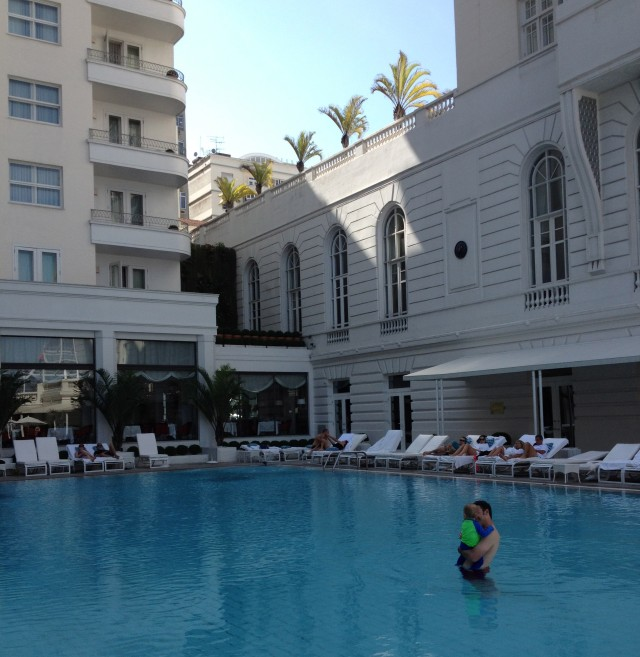 Colt & Michael owning the pool at the Copacabana Palace!