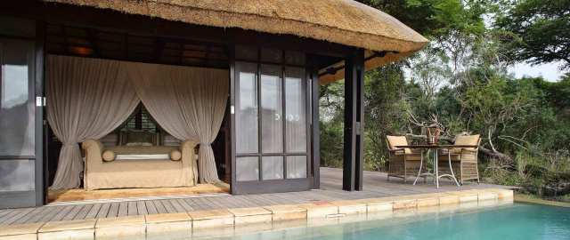 Each cabin had their own private plunge pool as well.