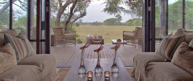 View from within the lodge looking out into the vlei.
