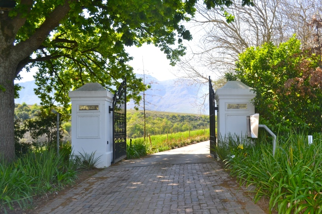 Entering the Rust en Vrede estate.