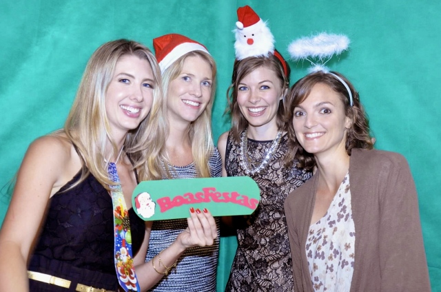 Christmas party photo booth fun!