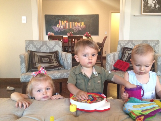 Friends! Mailey, Jack and Colt at the Hudsons' place.