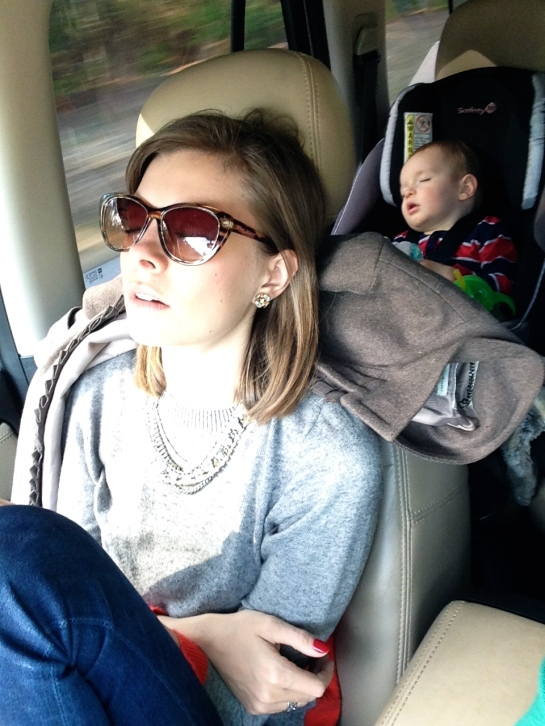 Michael snapped this little gem of Colt and I passed out in the car on the drive to Charleston.