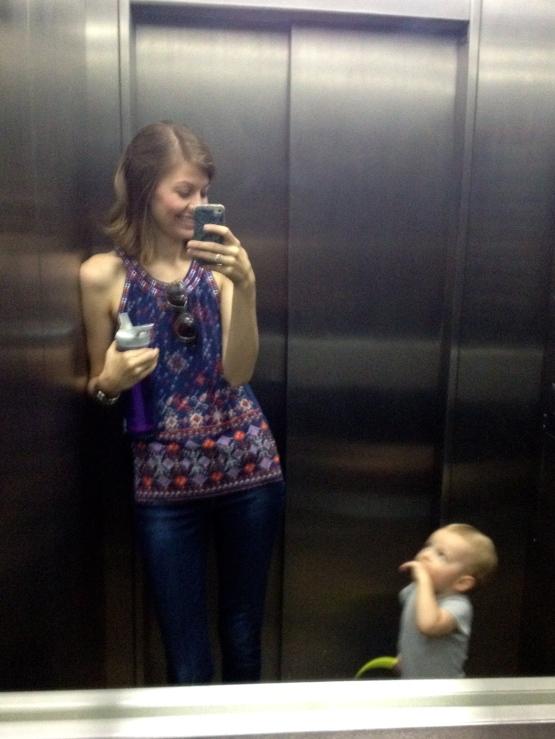Elevator selfies.
