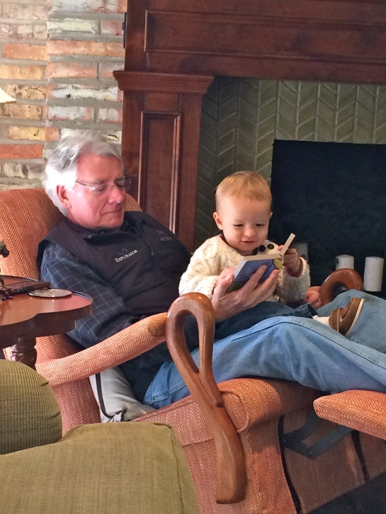 Colt reading with Papa.
