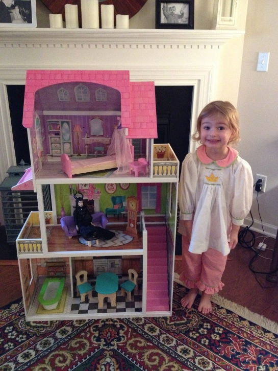 Augusta Clare and her doll house!