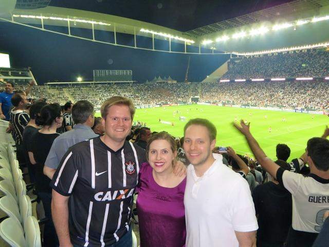 Kern rocking a Corinthians jersey!