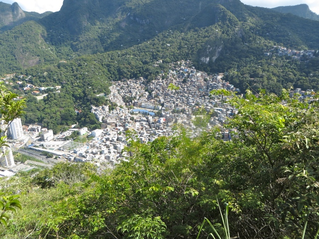 View of the favela below.