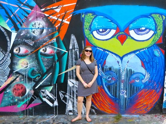 Emily can always spot an owl - such a faithful Chi O.