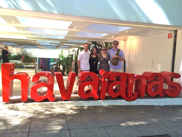 Doing some shopping at Havaianas.