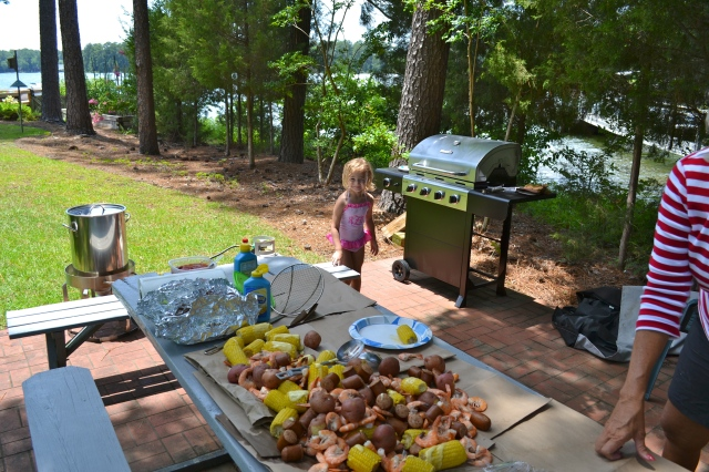The incredible shrimp boil by my Aunt Sheryl!