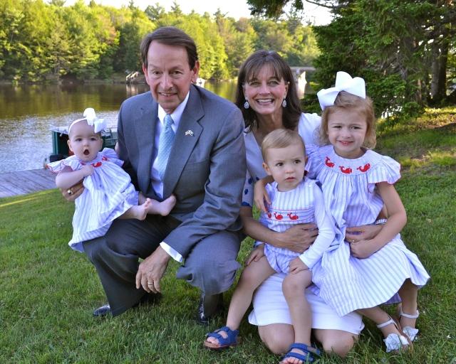 Gigi and Pasha with their 3 grandkids. Outfits courtesy of Gigi.