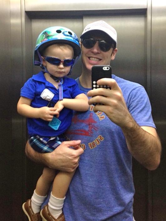 Elevator selfie with Dad!