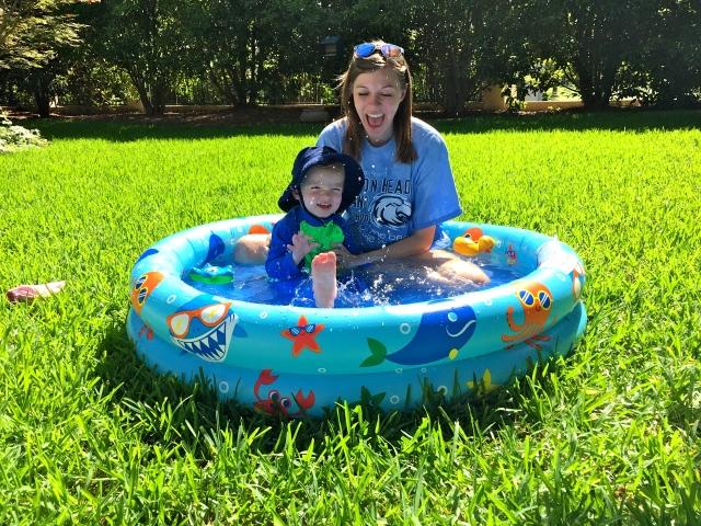 Swimming pool in the yard!