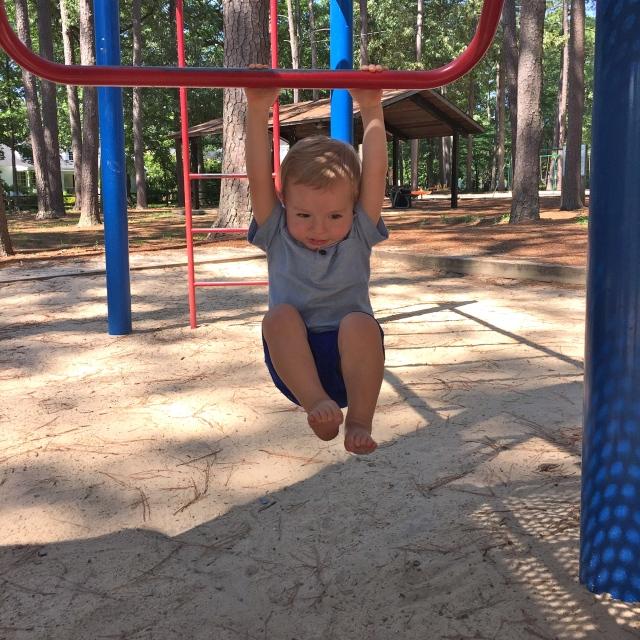 Hanging around the park.