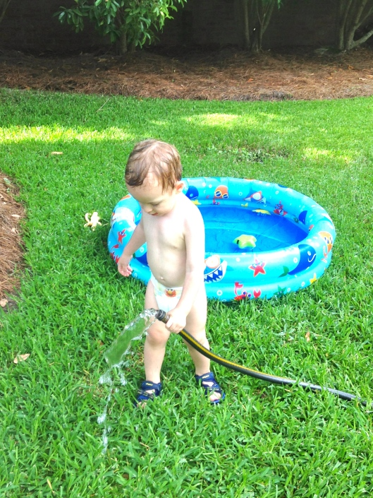 Drinking from the hose.