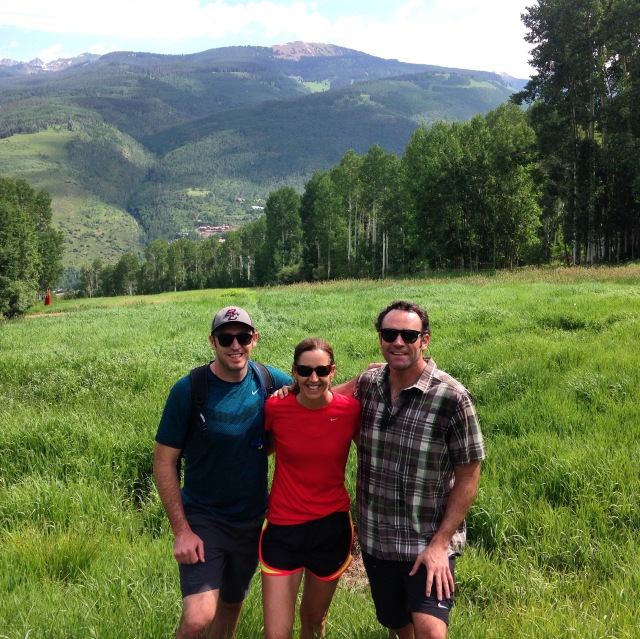 Michael, Lise and Joe on their hike.