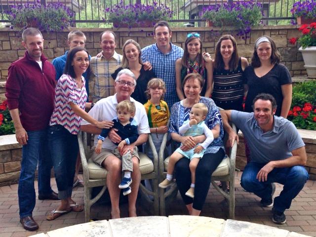 The whole family - just missing Meg Kopp.