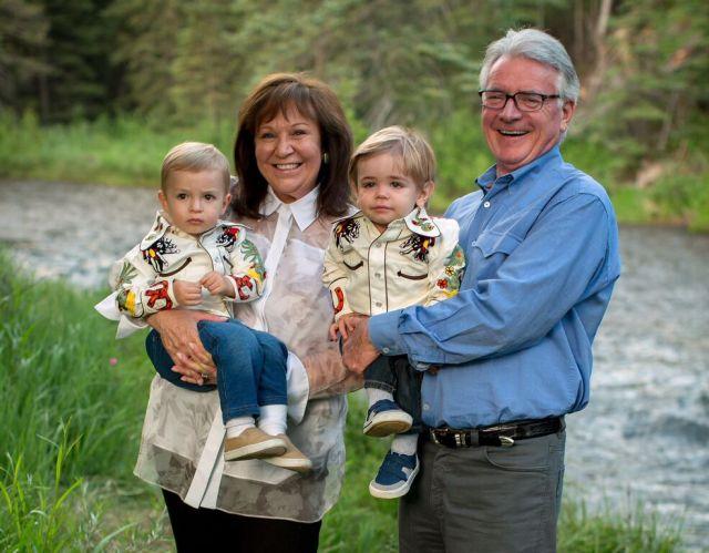 Sharon & Ollie with their grandboys.