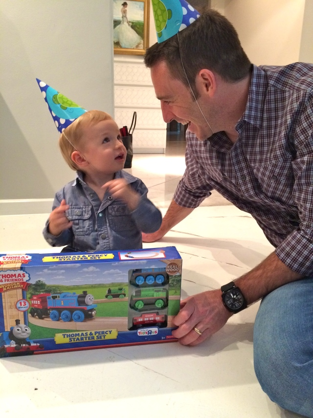 Like his dad, Colt loves receiving gifts. :)