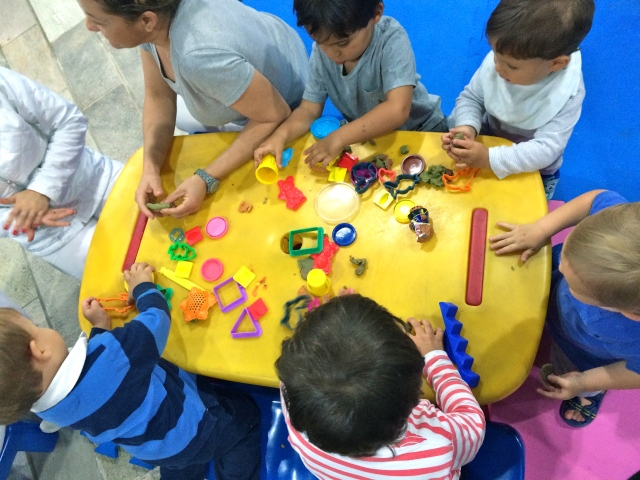 Play dough in the play room.
