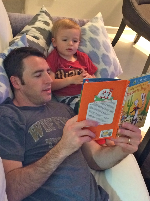 Story time with Dad.