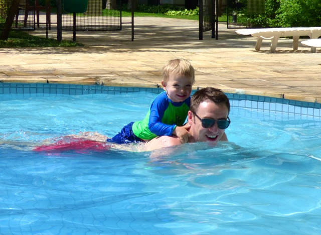 Pool fun with Dad!