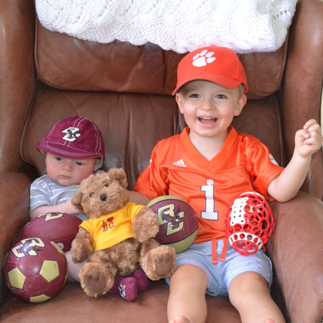 Annual BC vs. Clemson photo. I think they knew who was going to win it...