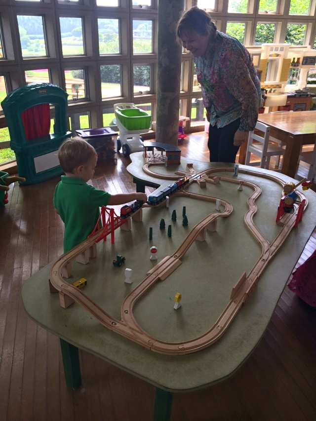 Trains with Nana.